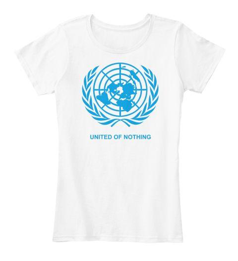 United Of Nothing White Kaos Wanita Front
