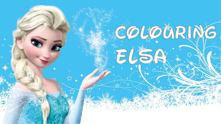 Fun Colouring Disney Princesses: Elsa from Frozen Easy for kids to understand!  You can find the link in the YouTube description to print the drawing.