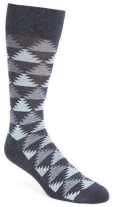 75243cd0b5686b Nordstrom Pyramid Motif Socks | Dockers | Socks, Man shop, Knitting ...