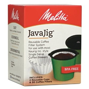 melitta javajig reusable coffee filter system for single serve 190 ounce k cup - Espresso K Cups
