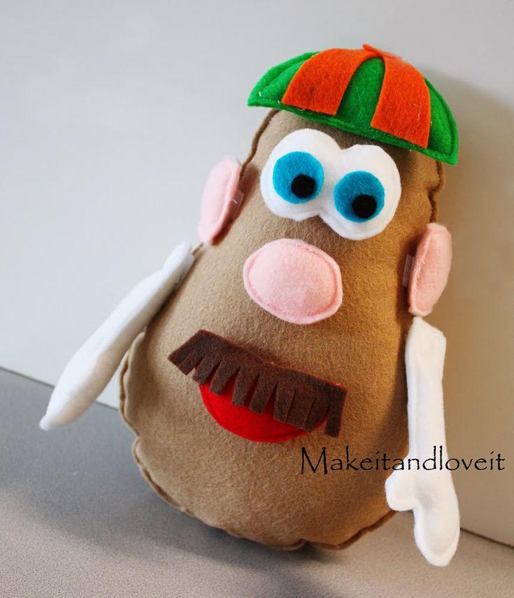 DIY - FELT Mr. Potato Head | Tiny Sparkly Things