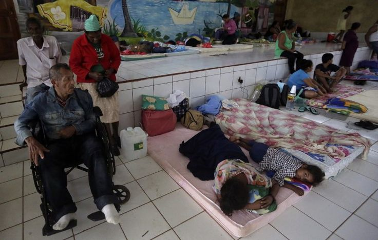 24 Nov 2016 People from communities nearby Bluefields rest in a shelter before Hurricane Otto arrives in Bluefields, Nicaragua. Inti Ocon/AFP #hurricaneotto