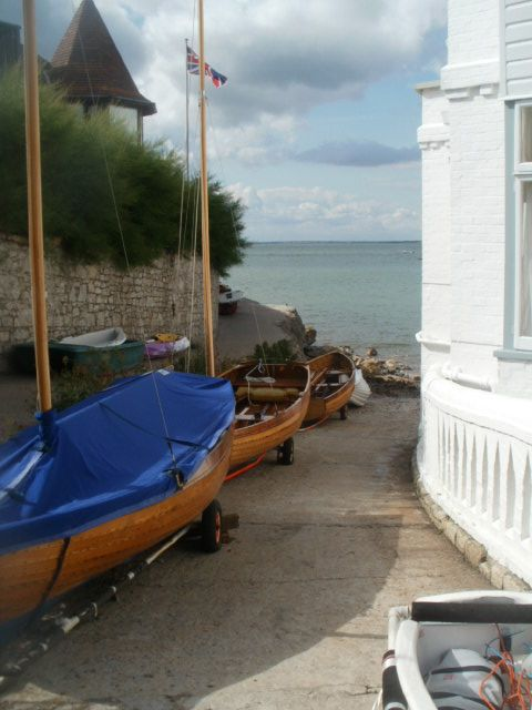 Seaview, Isle of Wight, Slipway & coastal path around to Ryde