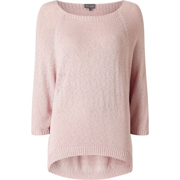 Bianca Batwing Jumper ($79) ❤ liked on Polyvore featuring tops, sweaters, batwing sleeve sweater, pale pink top, fine knit sweater, long sweaters and boat neck sweaters