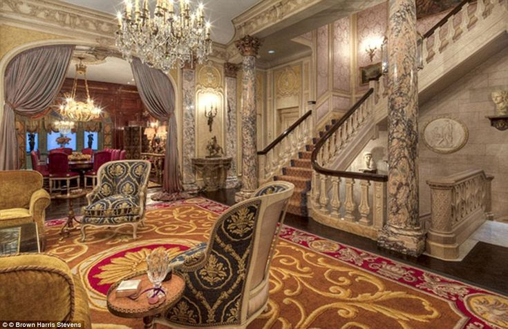 Bargain: The mansion, which at 35ft wide has been completely renovated into a pre-war style, was bought in 1995 for a mere $6million (£3.7million)