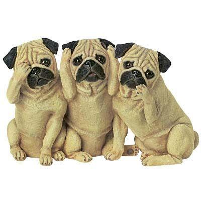 Bark No Evil Pug Dog Figurine The Danbury Mint Cute