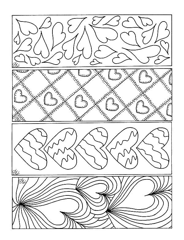 Love Theme Bookmarks Coloring Pages Valentines Bookmarks Coloring Bookmarks Valentine Coloring Pages