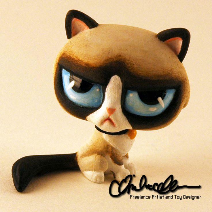 Grumpy Cat custom LPS by thatg33kgirl on DeviantArt