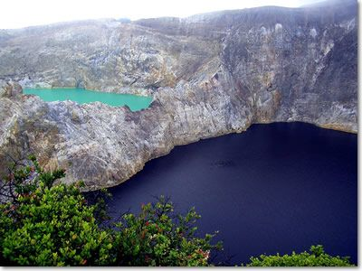Kelimutu Lakes (3 different colored-lakes), NTT