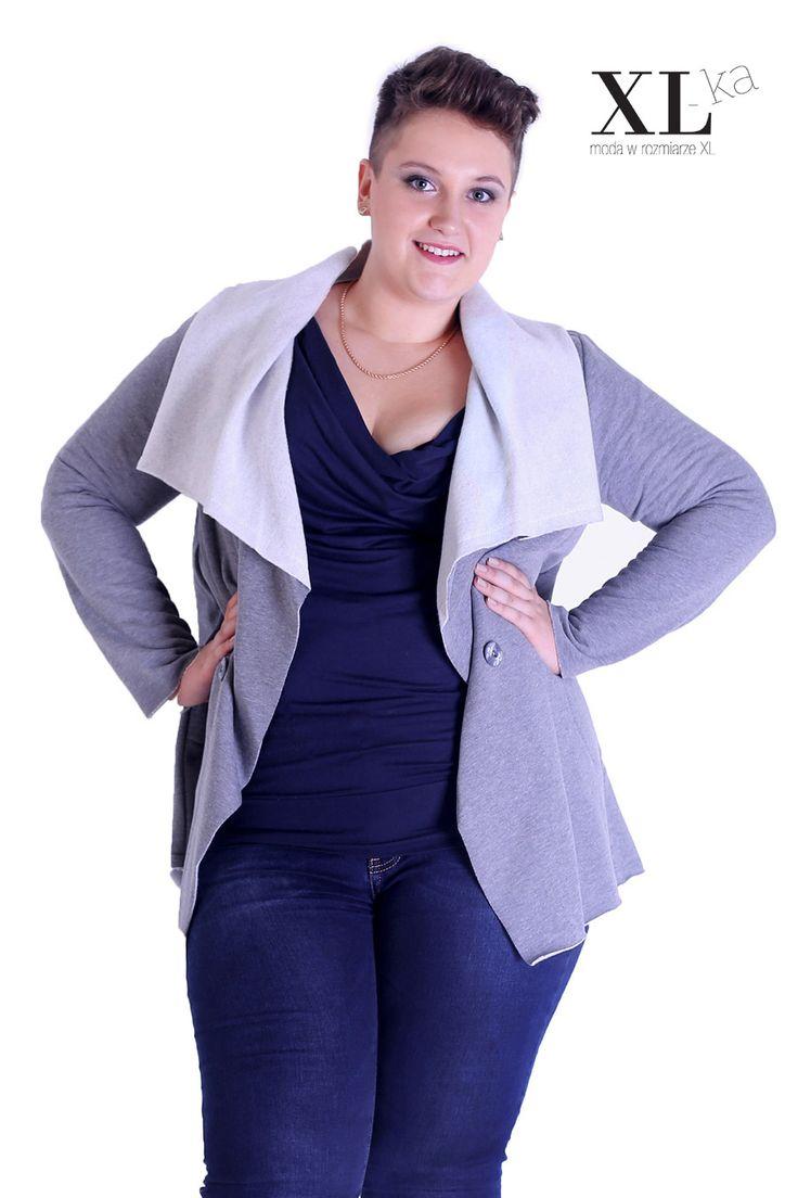 New in XL-ka store #fashiondaily #plussize #curvy #winter #collection #casual  Narzutka na zimę plus size   Narzutka dresowa w sklepie XL-ka