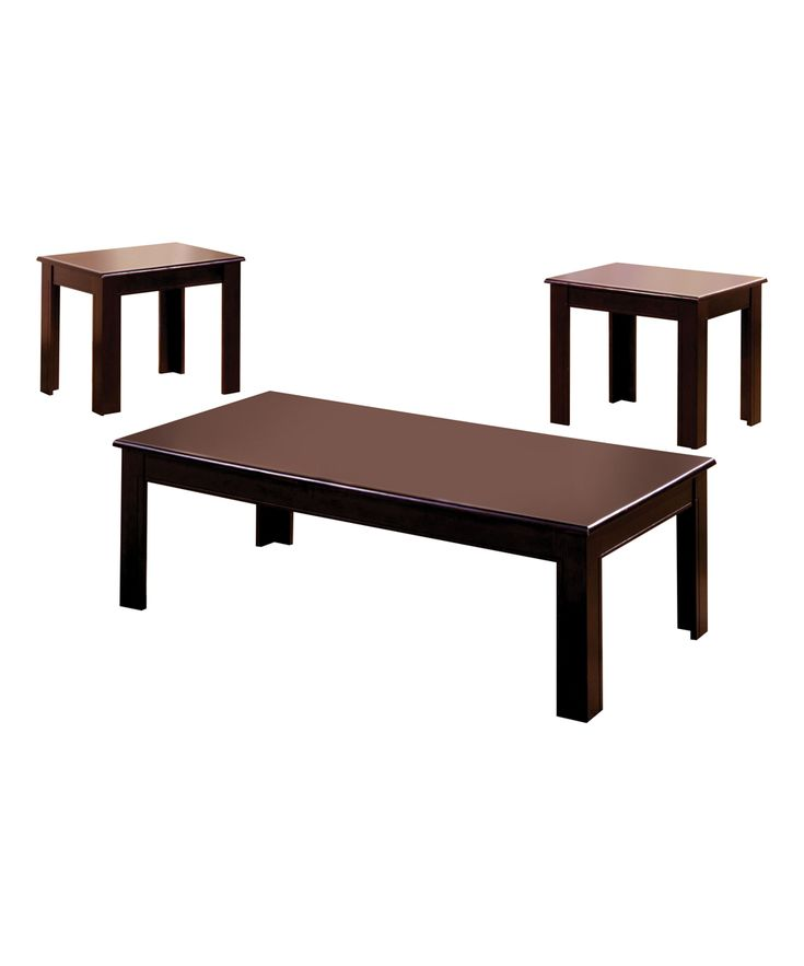 Espresso Three-Piece Serano Transitional Coffee Table Set
