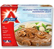 Meatloaf with Portobello Mushroom Gravy - Atkins Frozen Meals - 330 calories, Gluten Free