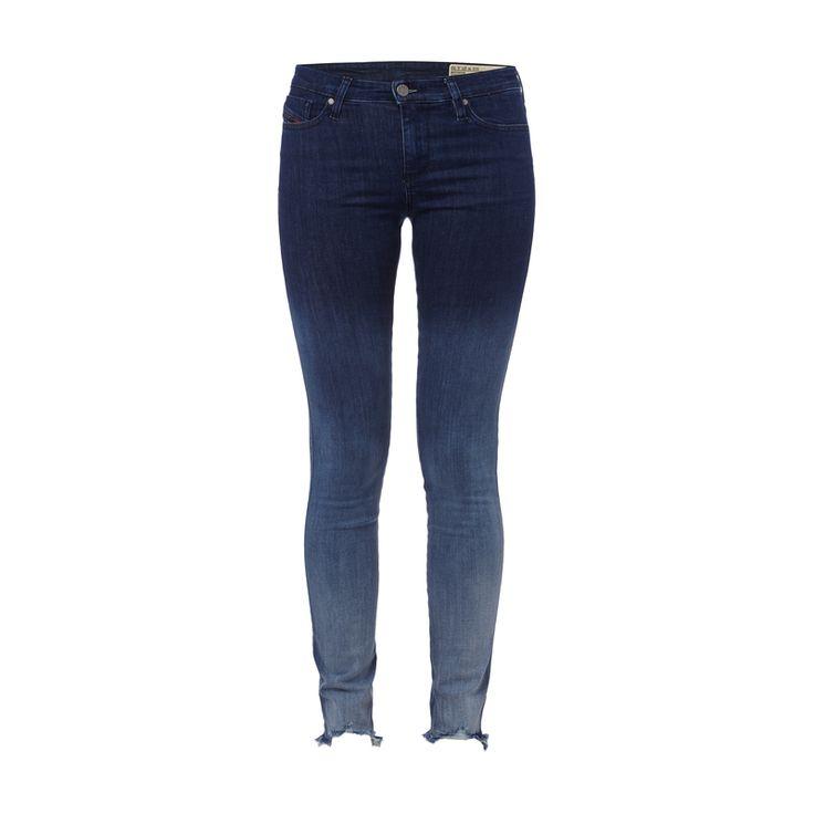 Diesel Super Slim-Skinny Fit Dip Dyed Jeans für Damen - Damen-5-Pocket-Jeans von Diesel, Baumwollmischung mit Stretch-Anteil, Modell Skinzee, Dip Dye, Super Slim-Skinny Fit, Knopf- und Reißverschluss, Gürtelschlaufen am Bund, Label-Patch, Ausgefranste Beinabschlüsse, Innenbeinlänge bei Größe 27/32: 78 cm, Bundweite bei Größe 27/32: 72 cm