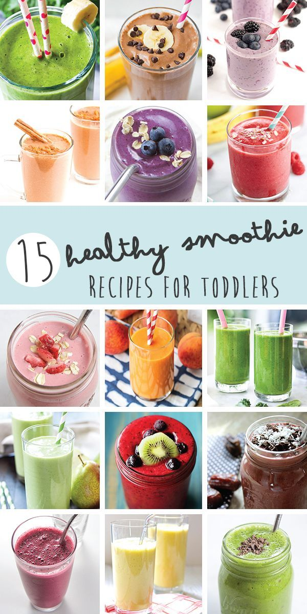 15 Smoothies for your Toddles (and Kids)!! Smoothies are a great (and easy) way to get nutrient dense fruits and vegetables into your kids without them really knowing it!