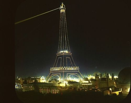 Eiffel Tower, Paris, France, 1900. Paris Exposition 1900.
