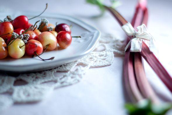 vanilla-roasted rhubarb & rhubarb iced tea ♥