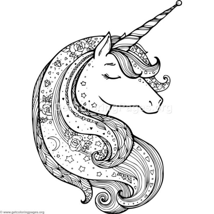 Zentangle Unicorn Coloring Pages Sign Fun Unicorn