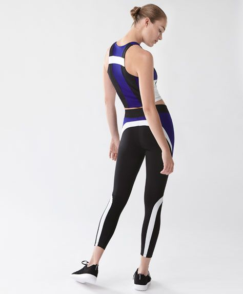 Cobalt blue block leggings