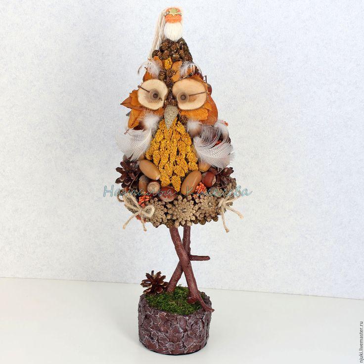 Купить Новогодняя елка Сова - коричневый, елка, новогодняя елка, елка сова, сова