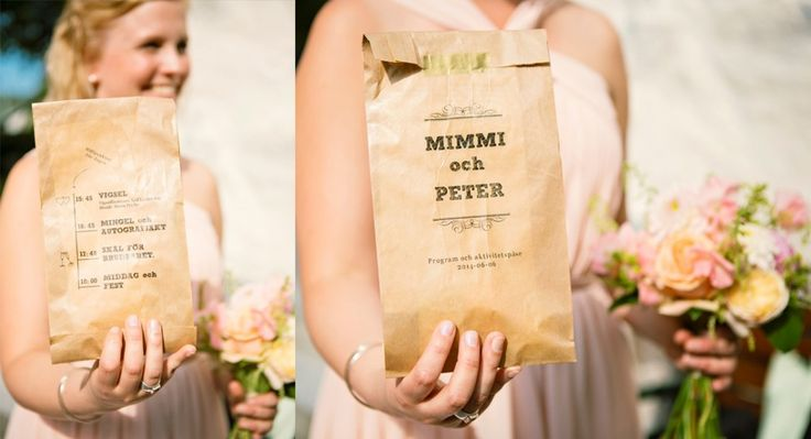 Printed paperbags for all the guests at church, with timetable and activities!