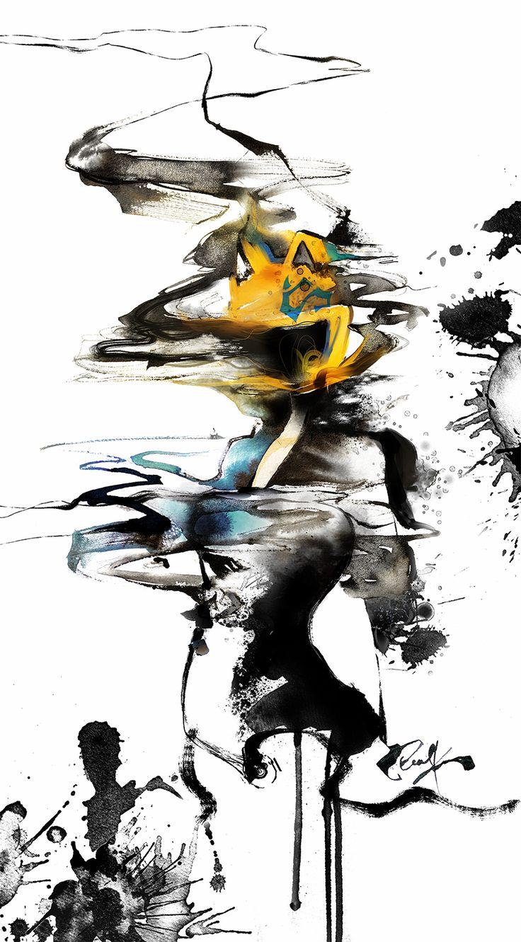 Celty Durarara Watercolor
