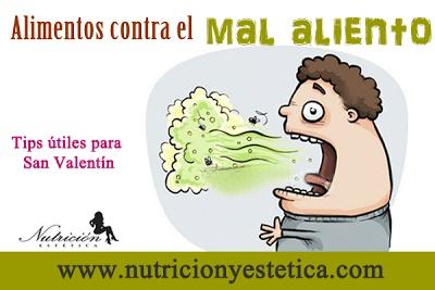 Todos hemos sido víctimas de mal aliento, pero hay ciertos pasos que puedes tomar para evitar un beso oloroso este Día de San Valentín. Por supuesto, el mantenimiento de una buena higiene bucal es, ante todo, lo principal......    Para mas informacion encuentranos en: http://nutricionylaestetica.blogspot.com/2013/02/tips-para-san-valentin-alimentos-contra.html