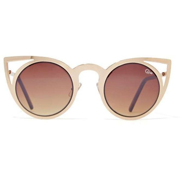 LuckyShops featuring polyvore, fashion, accessories, eyewear, sunglasses, glasses, lentes, cat eye glasses, cat eye sunglasses, brown oversized sunglasses, ombre sunglasses and lens glasses