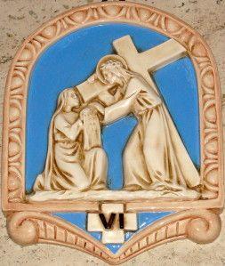 Une femme pieuse essuie la face de Jésus, Saint-Georges lès Catalans, Marseille