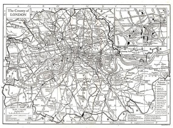 photo relating to Printable Map of London called Printable Outdated Map of London within just 1910, London Metropolis Map