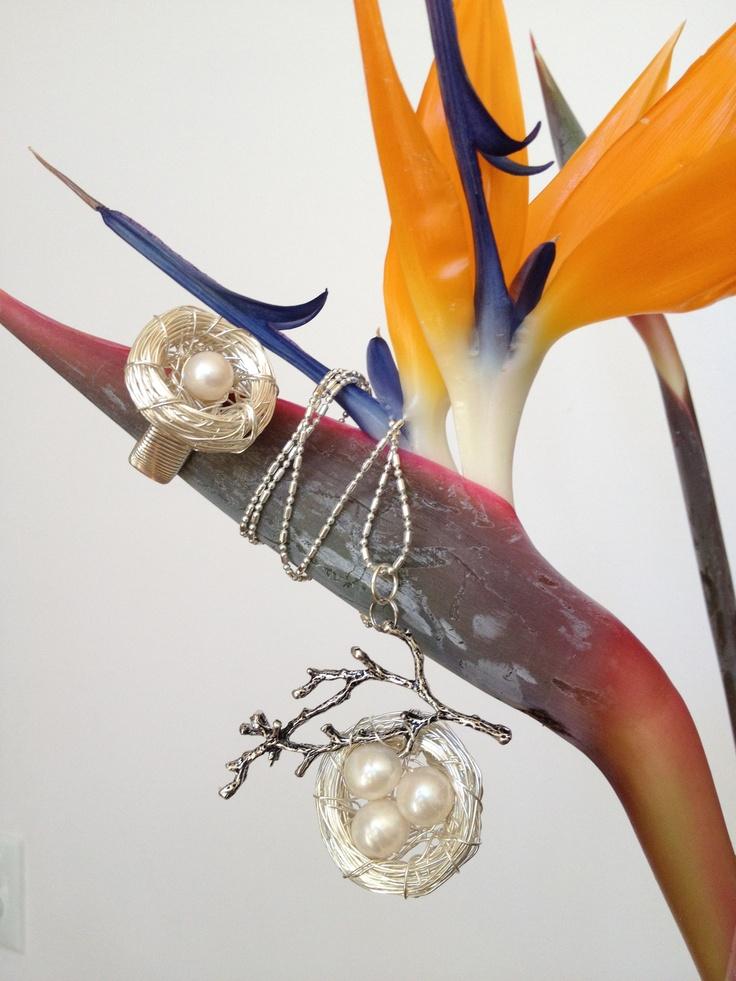 Birds Nest Ring & Pendant
