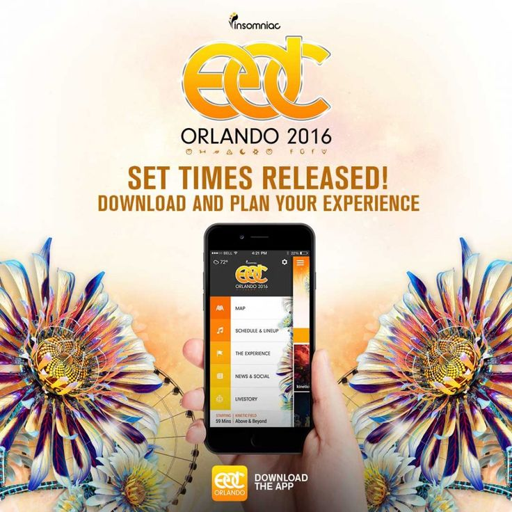 If you've already scored a ticket for the celebration, you should know that the organizers have just released the official app for EDC Orlando, where you'll be able to find the set times, the festival map, info about the artists, as well as a new Livestory feature, that will create a shareable timeline and playlist for its users.