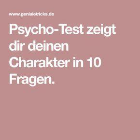 Psycho-Test zeigt dir deinen Charakter in 10 Fragen.