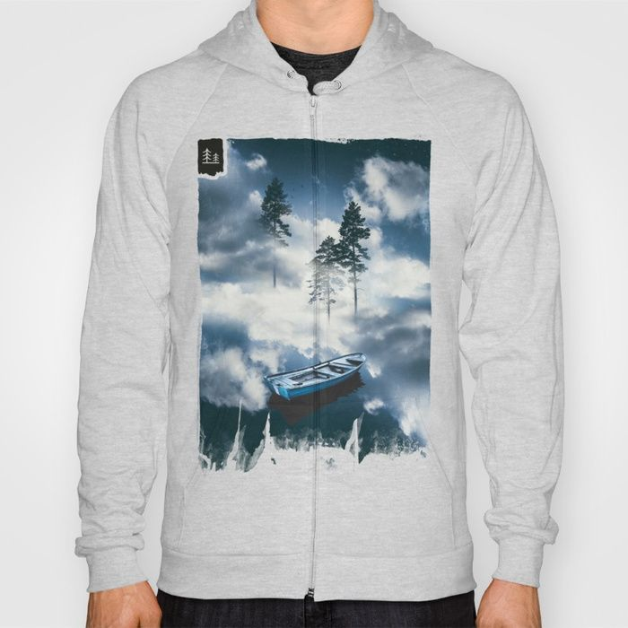Forest sailing Hoody by HappyMelvin. #art #nature #photography #surreal #clothing #hoodies