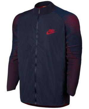 Nike Men's Sportswear Tech Knit Varsity Jacket - Blue XL