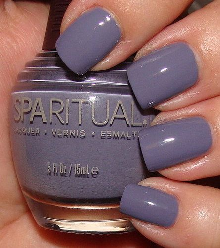 SpaRitual's A World of Compassion periwinkle/lavender nail polish