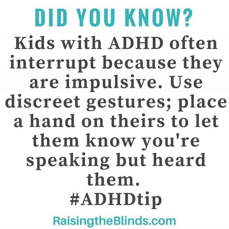 ADHD Tip to use when kids interrupt! Solve the problem without arguing and tears. From an ADHD Parenting website.