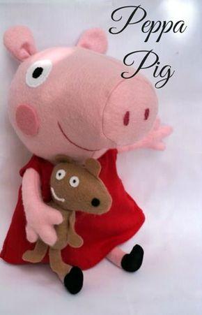 Apostila Grátis! Moldes da Peppa Pig para Artesanato em Feltro