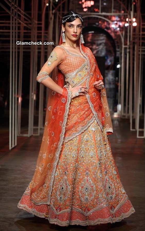 Tarun Tahiliani Bridal Lehengas 2013 India Bridal Fashion Week