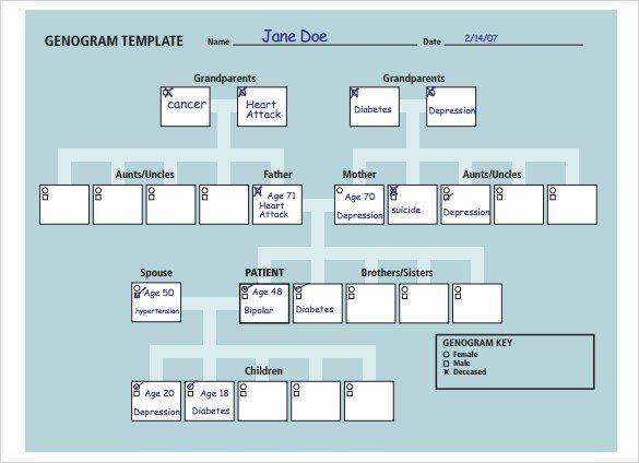 Genogram Template Microsoft Word In 2020 Genogram Template