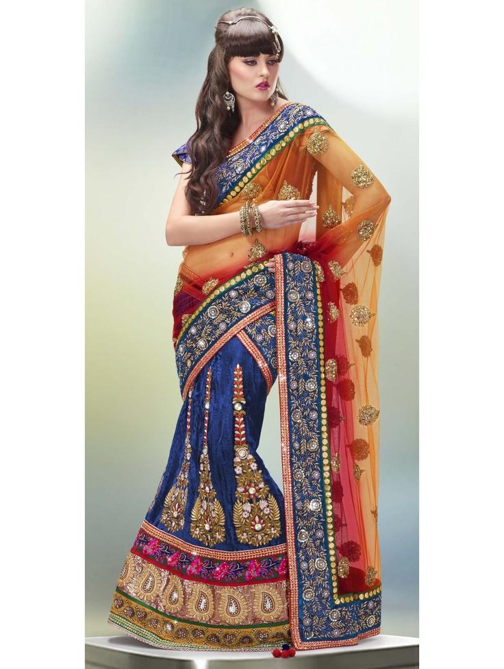 Lovely Look Velvet Lehenga Item code : GMN6212  http://www.bharatplaza.com/womens-wear/lehengas/bollywood-lehengas/lovely-look-velvet-lehenga-gmn6212.html https://www.facebook.com/bharatplazaportal https://twitter.com/bharat_plaza