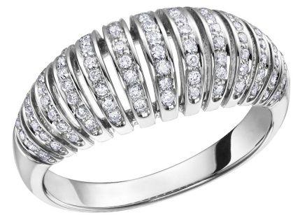 10K White Gold 0.40ct Diamond Ring with Cross bridge setting.