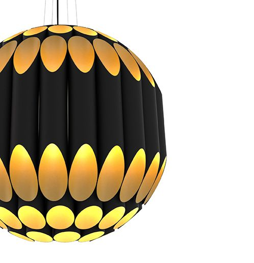 Kravitz Midcentury Modern Sphere Suspension Lamp | DelightFULL