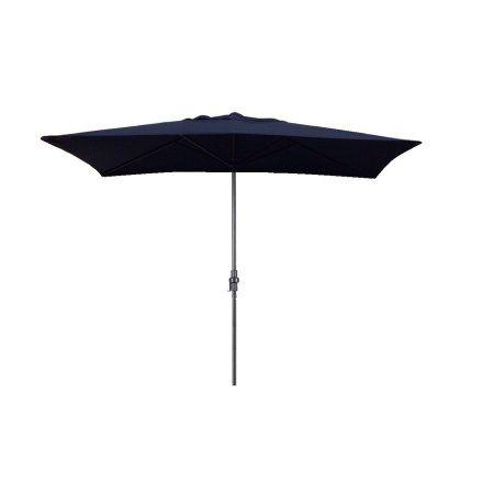 Escada Designs Lime Green Rectangular 10 Foot X 6 Foot Patio Umbrella, Blue
