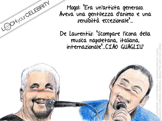Questa settimana Lochyourcelebrity ha scelto due celebri artisti che ci hanno lasciato troppo presto. Due artisti diversi, mediterranei e coetanei, amati e indimenticabili. Ciao #PinoDaniele Ciao #PinoMango