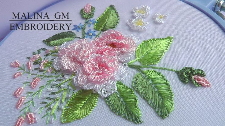ВЫШИВКА: РОЗА \ EMBROIDERY: ROSE Cast-on stitch