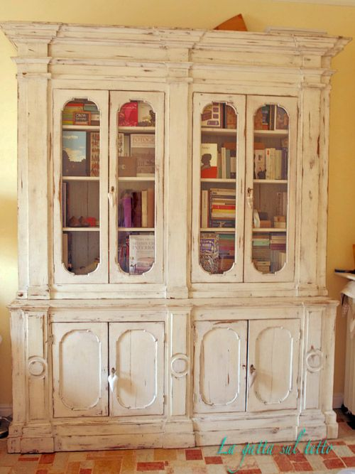 ... Chic su Pinterest  Scaffali per libri, Credenza gallese e Shabby chic