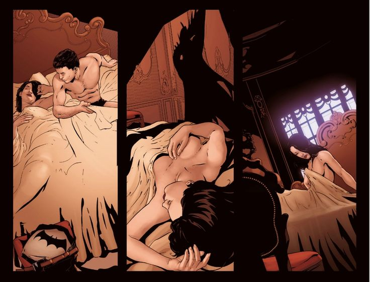 "katefatale: ""Talia x Bruce scans from Arkham Unhinged #39 Semi NSFW? """