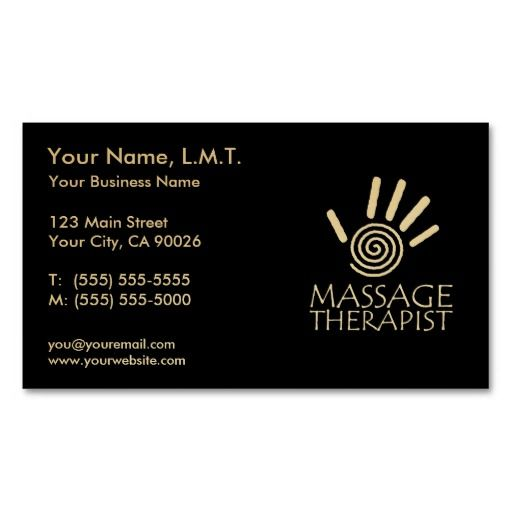 The 48 best business cards massage therapy images on pinterest massage therapy business cards flashek Image collections