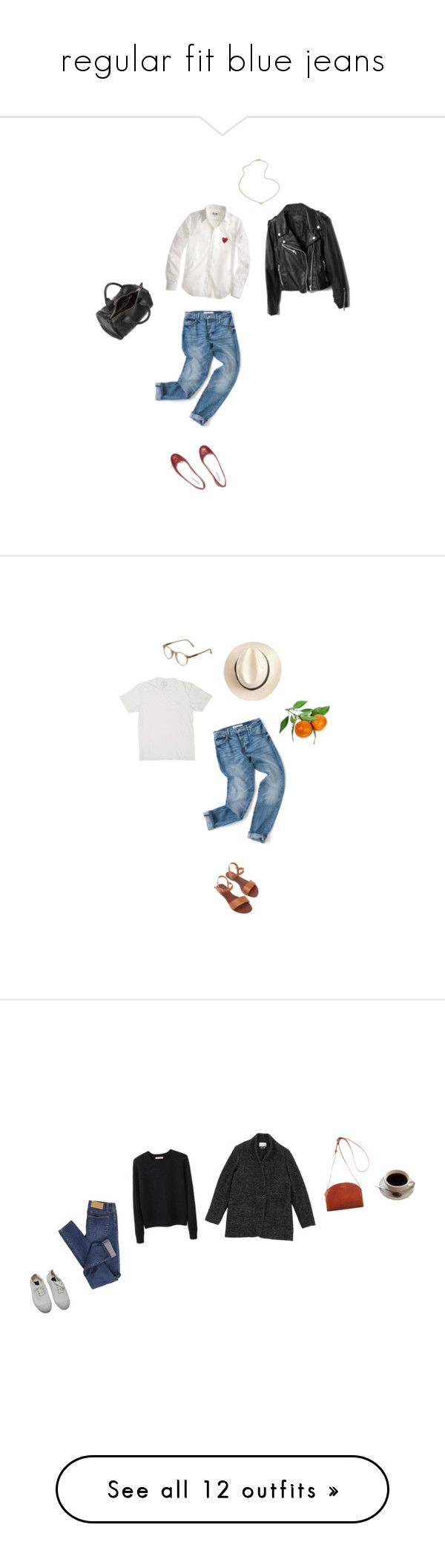 """""""regular fit blue jeans"""" by youthcult ❤ liked on Polyvore featuring Repetto, J.Crew, Jennifer Zeuner, Alexander Wang, Whiteley, Cutler and Gross, Marc Jacobs, Oroton, Organic by John Patrick and Étoile Isabel Marant"""