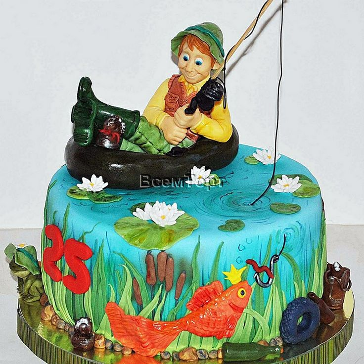 Торт на заказ Рыбак